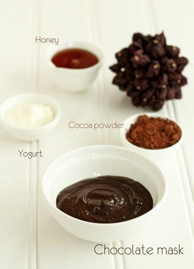 Chocolate face mask | chocolade gezichtsmasker