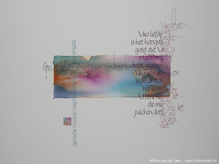 Kalligrafie: Opdrachten » Letterkunst