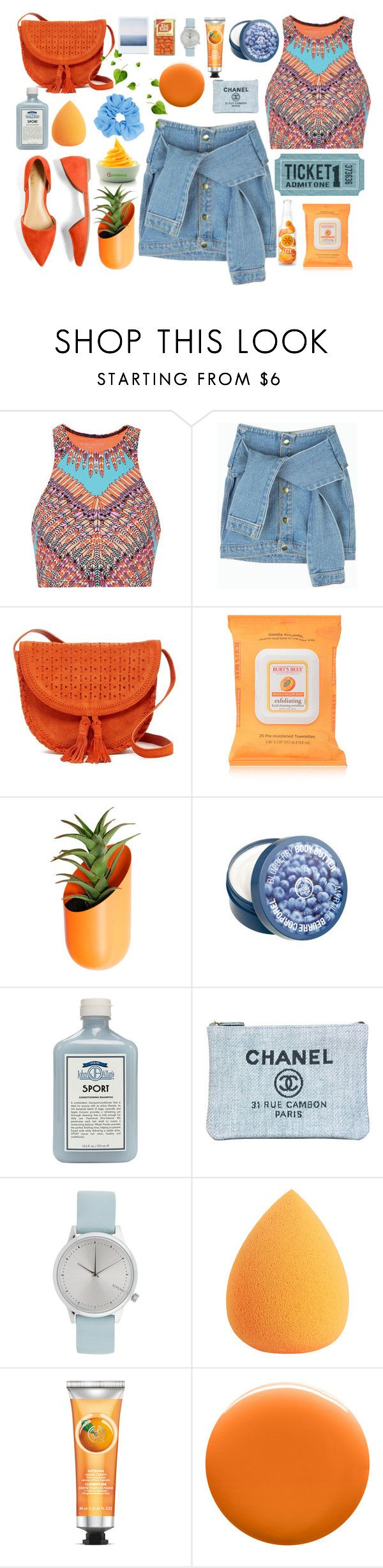 """Plus one"" by susy-v ❤ liked on Polyvore featuring Mara Hoffman, Shiraleah, MANGO, Burt's Bees, Wallter, The Body Shop, John Allan's, Chanel, Komono and Uslu Airlines"