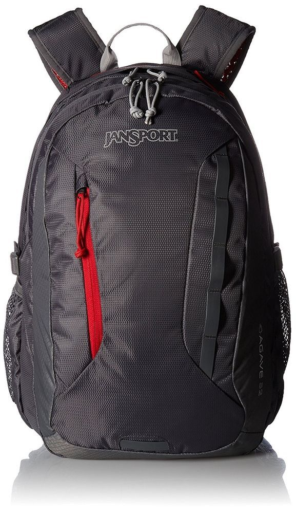 (One Size Forge Grey   Red Tape) - JanSport Agave Laptop Backpack (eBay Link ) 30b6f3b5b75f2