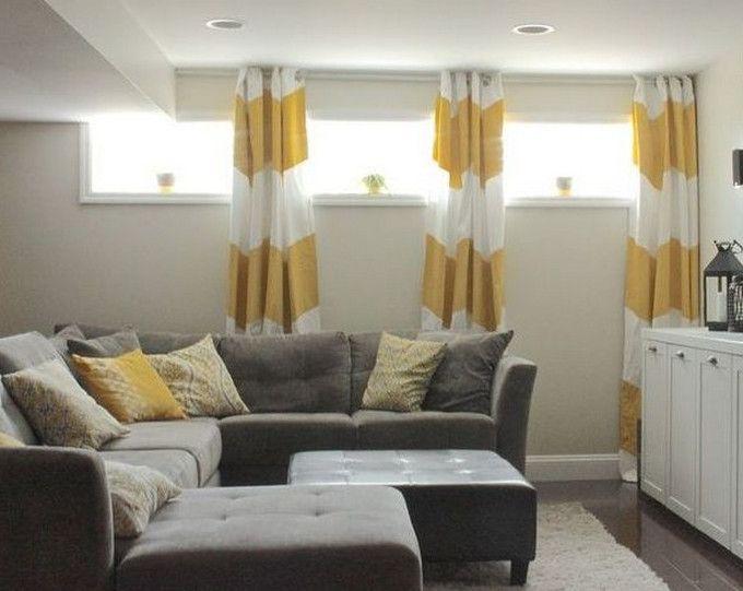 25 Best Ideas About Basement Window Curtains On Pinterest