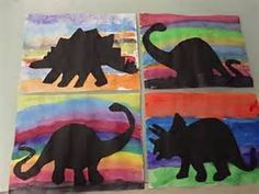 Dinosaur Silhouettes \ | Dino-mite Dinosaur Crafts for Kids ...