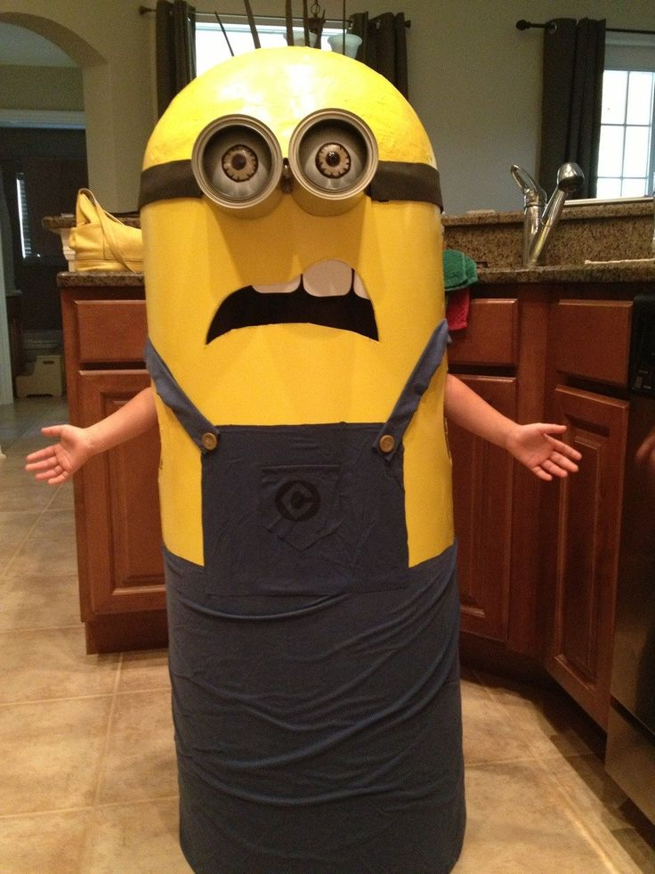 my girls homemade minion costume - Halloween Stuff