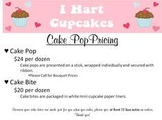 Cake Pop Pricing
