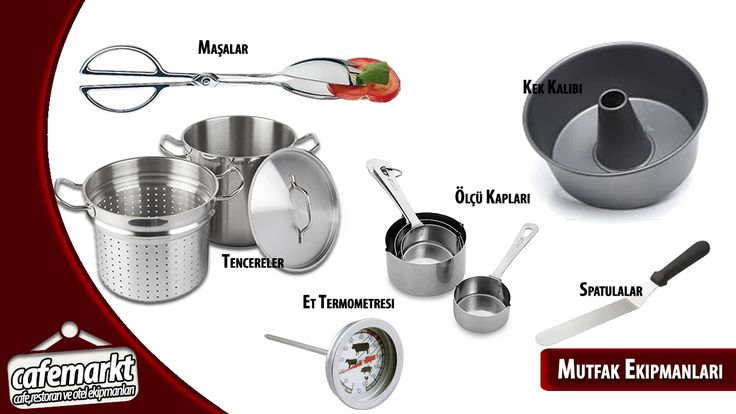 Mutfağınızın tek ihtiyaçları tek adreste. Tıklayın büyükten küçüğe tüm mutfak ekipmanlarını anında alın. http://www.cafemarkt.com/mutfak-ekipmanlari #Cafemarkt #Mutfakekipmnaları #Maşa #kekkalıbı #süzgeç #kepçe #kevgir #spatula #ettermometresi #ölçükabı #ölçek #endüstriyelmutfakekipmanları Cafemarkt,Mutfak ekipmnaları,Maşa,kek kalıbı,süzgeç,kepçe,kevgir,spatula,et termometresi,ölçü kabı,ölçek,endüstriyel mutfak ekipmanları