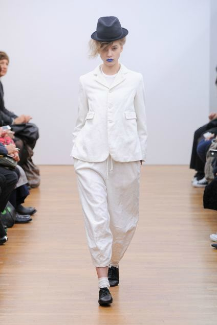 Spring 2013. Margiela white and purity. striking blue lips