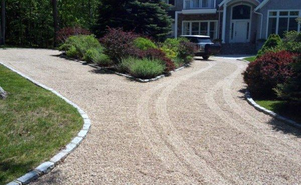 Top 60 Best Gravel Driveway Ideas Curb Appeal Designs Circle