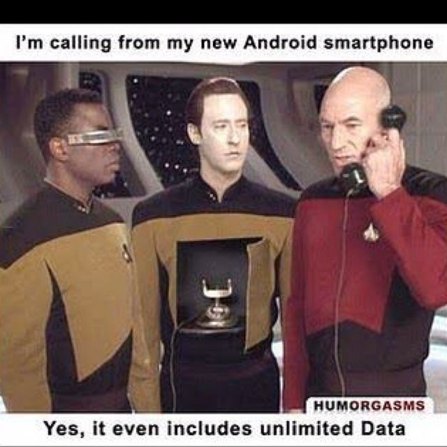 "Didn't know whether to post this under ""Star Trek"" or ""Funny."""