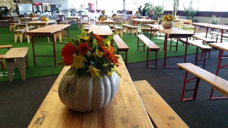 'KWV Gourmet Market' Table centrepiece @Decorex 2014