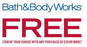 Bath & Body Works Coupon - Free Item with $10 Purchase {Up to $14!} - http://www.livingrichwithcoupons.com/2013/08/bath-body-works-coupon-free-item-with-10-purchase-up-to-14.html