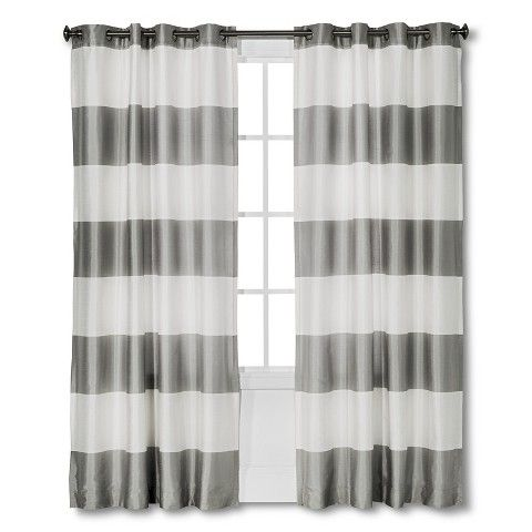 Cottage Bedrooms, Master Bedrooms, Master Bath, Stripe Curtains, Bold  Curtains, Nursery Curtains, Living Room Curtains, Sour Cream, Bold Stripes  Grey Striped Curtains