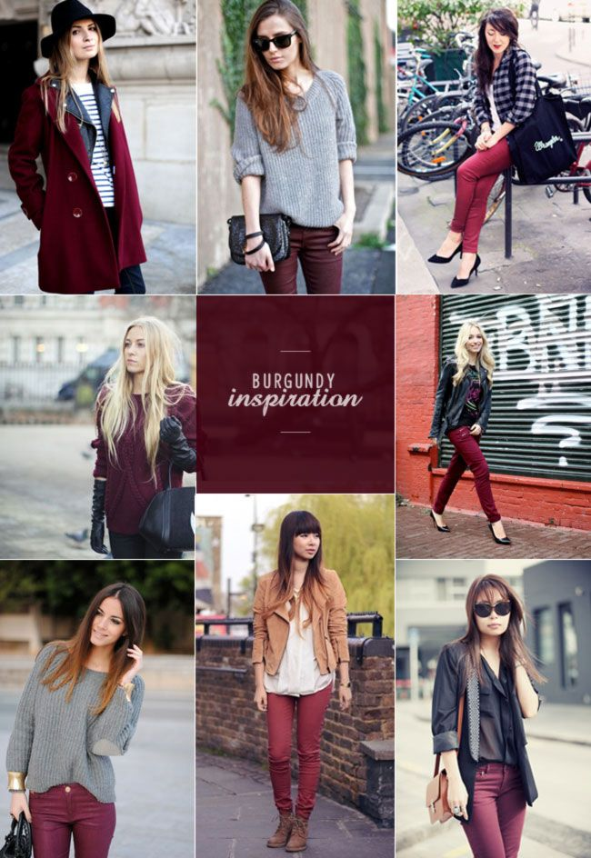 Burgundy is the color to wear this FALL! #fashiontrends