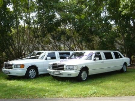 Mercedes 7 Seat Stretch Limousines, Matching Pair, 14 Passengers in total   #WeddingCarsBrisbane #ClassicCarsBrisbane #BrisbaneClassicCars