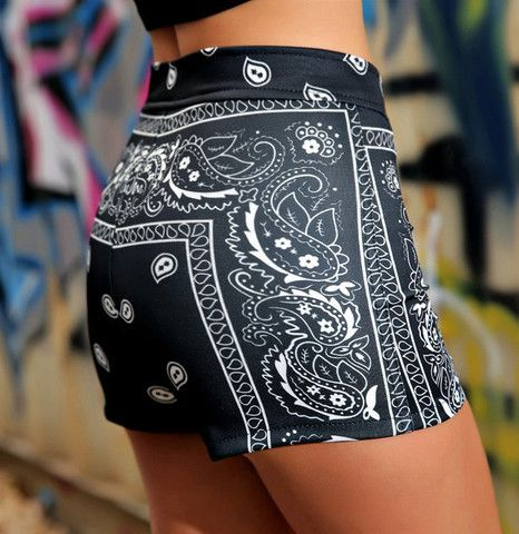 $27.00   Sexy retro hip stretch shorts