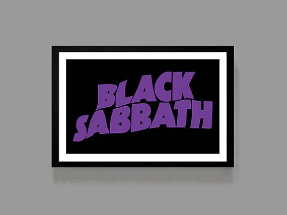 Black Sabbath Poster  Classic Print  Ozzy Osbourne  Music