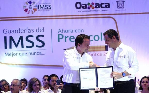 Guarderías del IMSS de Oaxaca darán primer año de preescolar a 1,600 niñas y niños; anuncian nueva guardería en la Ciudad de Oaxaca - http://plenilunia.com/escuela-para-padres/guarderias-del-imss-de-oaxaca-daran-primer-ano-de-preescolar-a-1600-ninas-y-ninos-anuncian-nueva-guarderia-en-la-ciudad-de-oaxaca/44527/