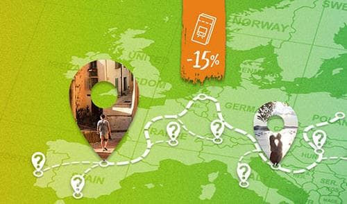 15% discount on Interrail Global Passes promotion