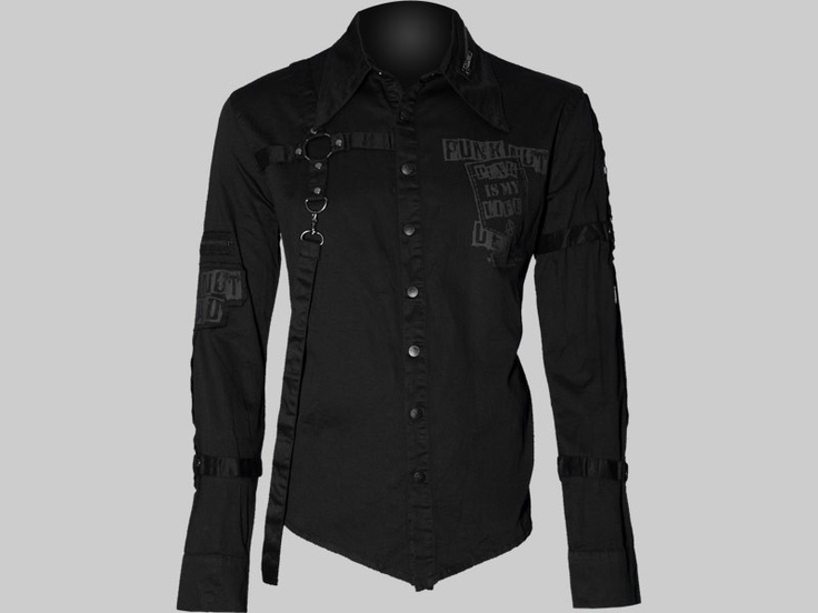 Gothic button down shirt by Queen of Darkness clothing