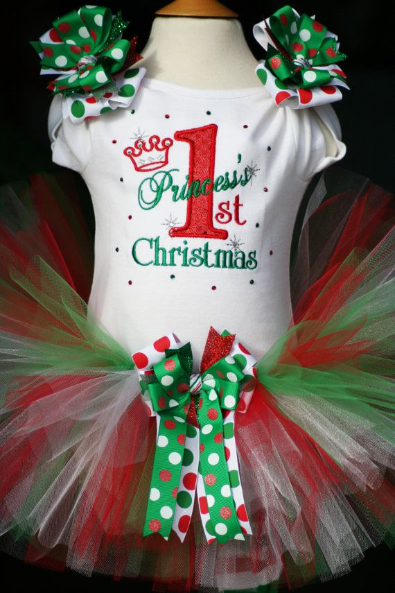 Hey, I found this really awesome Etsy listing at https://www.etsy.com/listing/168776028/personalized-1st-christmas-tutu-outfit