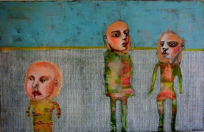 Kari Anne Marstein - acrylic painting / mixed media