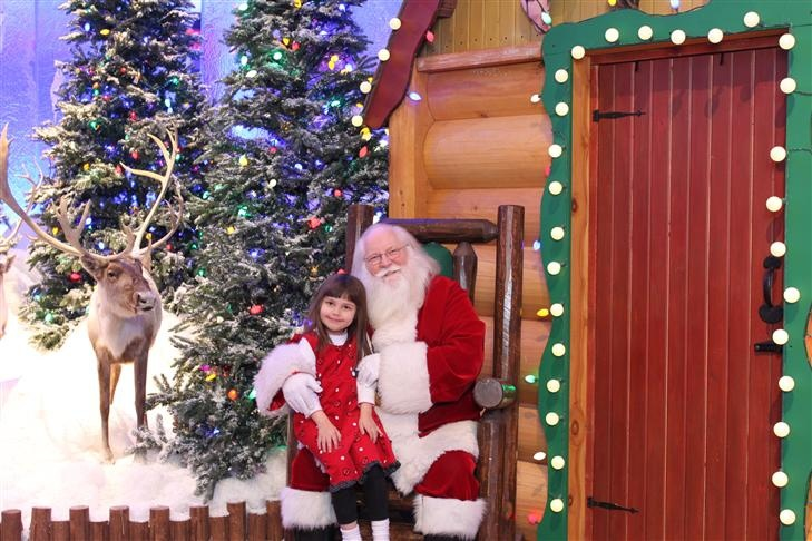 Alana at Bass Pro with Santa 2012.