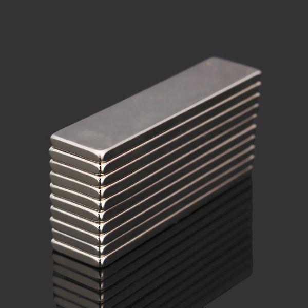 10pcs N52 40x10x2mm Super Strong Block Cuboid Magnets Rare Earth Neodymium Magnets Neodymium Magnets Magnets Rare