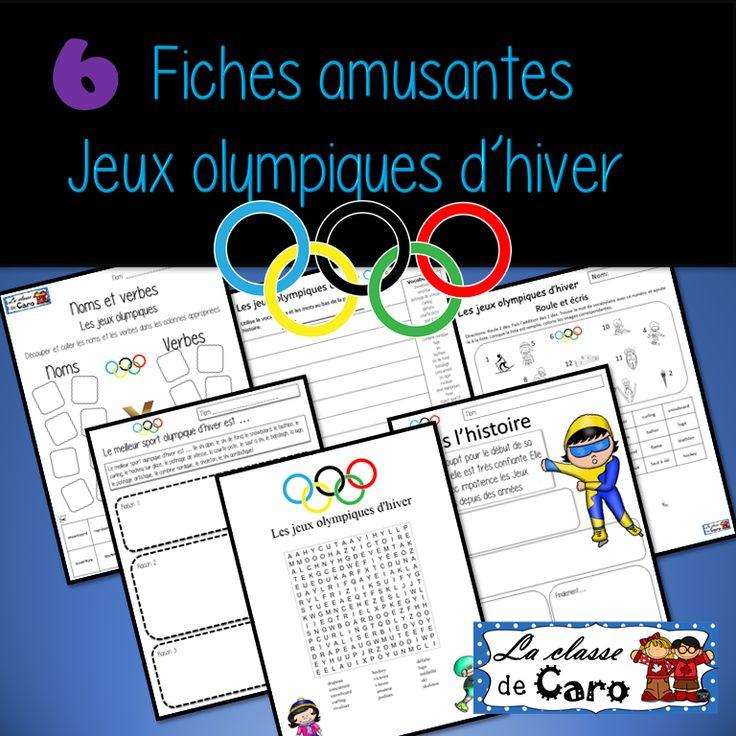 6 activités sur le thème des jeux olympiques d'hiver. Pour la classe de français, immersion française, french immersion, core french. FLE FSL Teach French