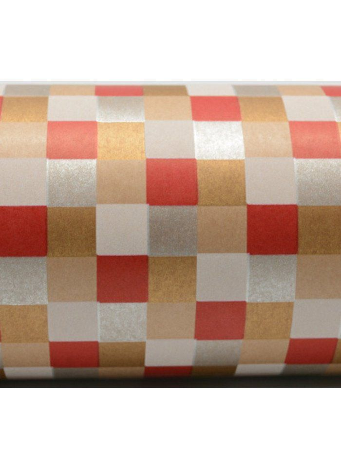 Wrapping Paper Roll - Check Weave