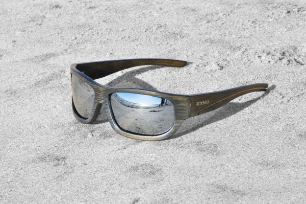 100% sustainable bamboo eyewear that floats. - UV400 polarized lens, spring loaded hinges, a bamboo stash box, 10% to charity, and a warranty.  www,KyndClothing.com