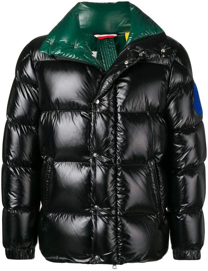 6376e37bd54c Moncler contrast colour padded coat   Products   Jackets, Coat ...