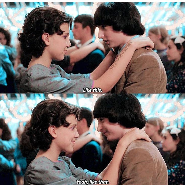 Does anyone else notice how much they wanted to kiss eachother in this scene they couldn't keep there eyes off of each others lips -  -  -  #mileven #finnwolfhard #strangerthings #art