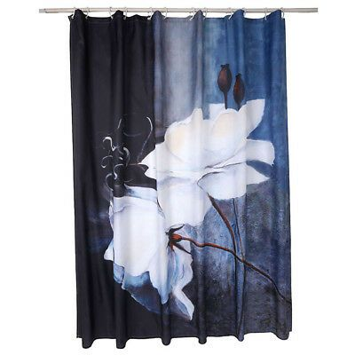 Advertisement Digital Flower Printing Waterproof Shower Curtain