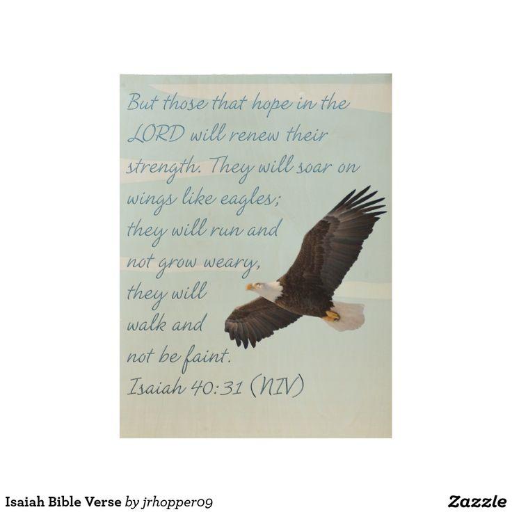 Isaiah Bible Verse Wood Poster