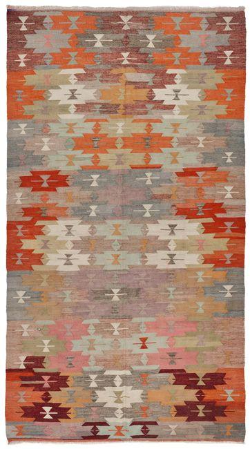1754 vintage anatolian kilim at loom rugs
