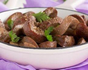 Fricassée de rognons de bœuf aux champignons spécial viande maigre : http://www.fourchette-et-bikini.fr/recettes/recettes-minceur/fricassee-de-rognons-de-boeuf-aux-champignons-special-viande-maigre.html