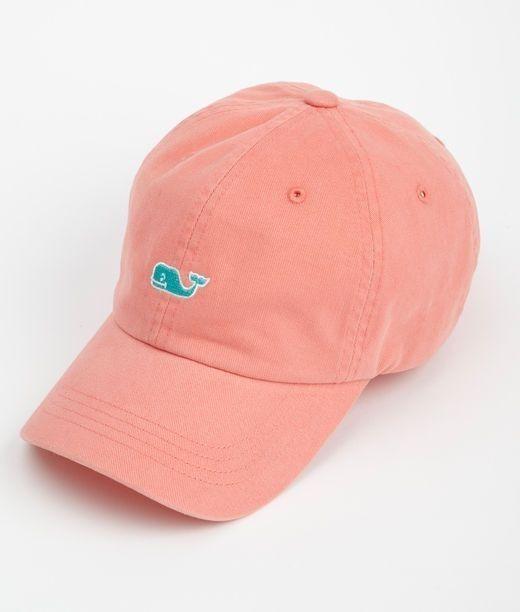 Vineyard Vines Whale Logo Women's Baseball Hat NEW!  Salmon #VineyardVines #BaseballCap