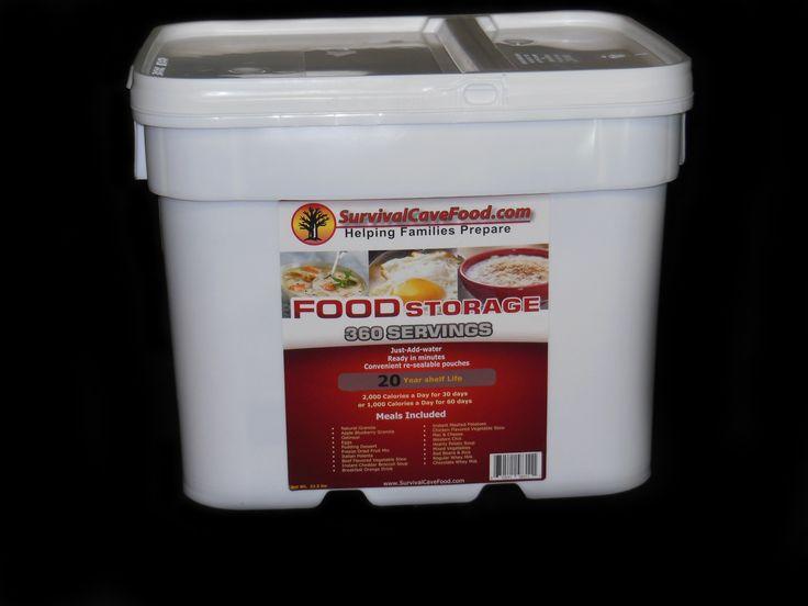 SPECIAL  2 - 360 Serving Survivalcavefood Meal Buckets SAVE $210