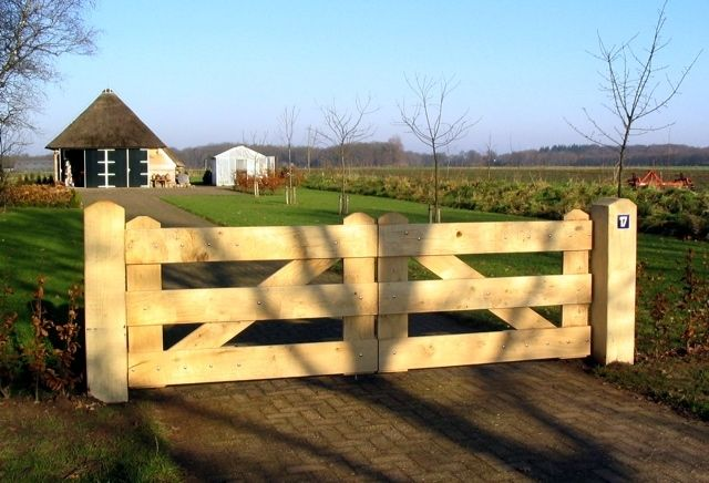 Houten poorten en landhekken   Willemsen Hout uit Opheusden