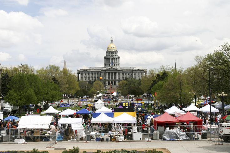 An event at Civic Center Park outside the State Capitol Building in Denver Image Credit:  Matt Inden/Miles