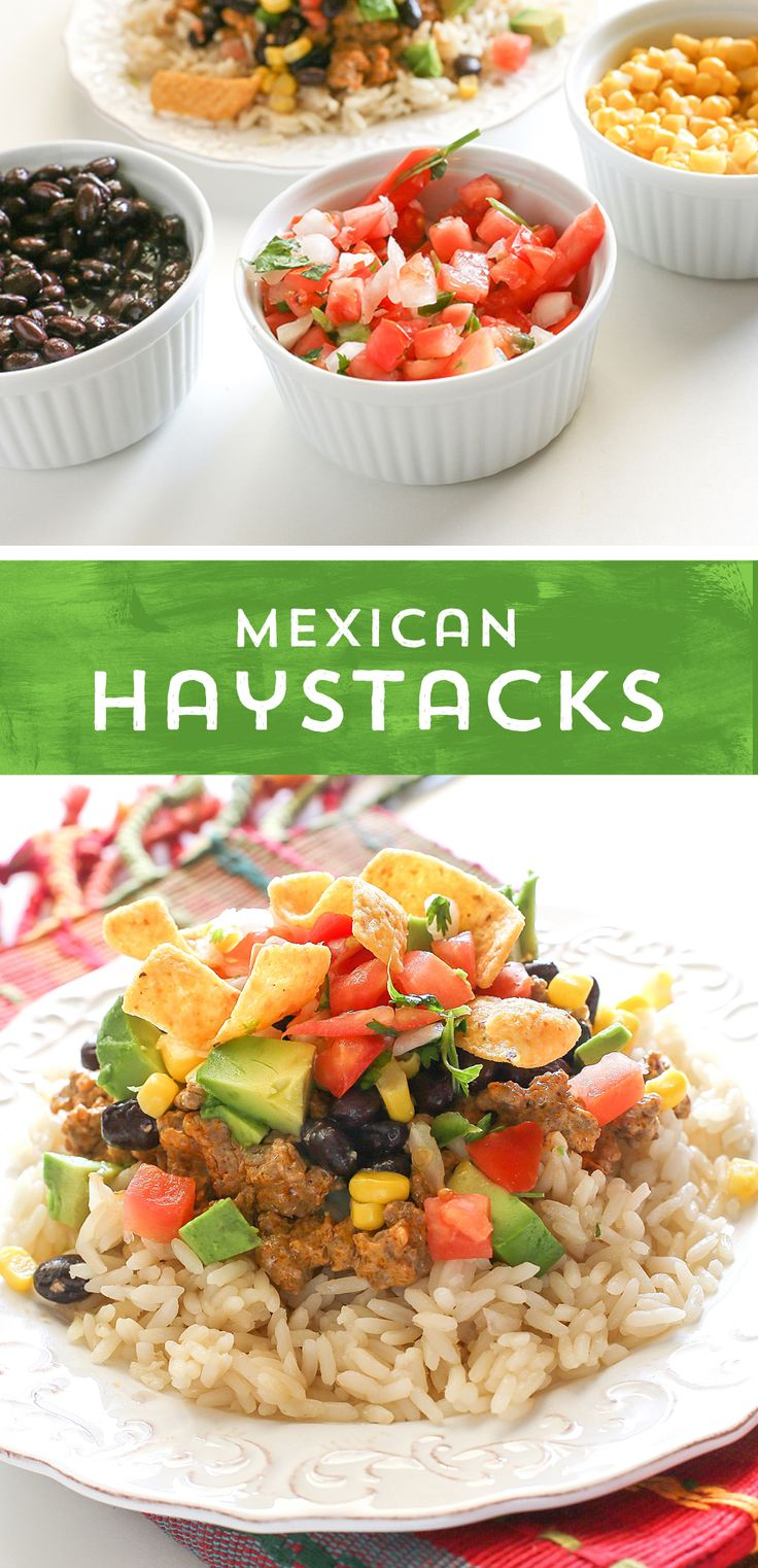 Take traditional Hawaiian Haystacks to a whole new level! These Mexican Haystacks from @GirlWhoAte are a simple, flavor-packed twist on the classic dish! It's ready to eat in just 20 minutes - perfect for busy days!