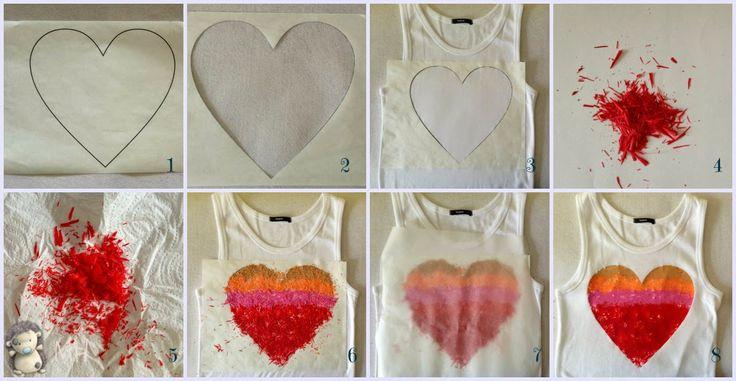 MADRES HIPERACTIVAS: Camiseta con Corazón de Plastidecor, Tutorial