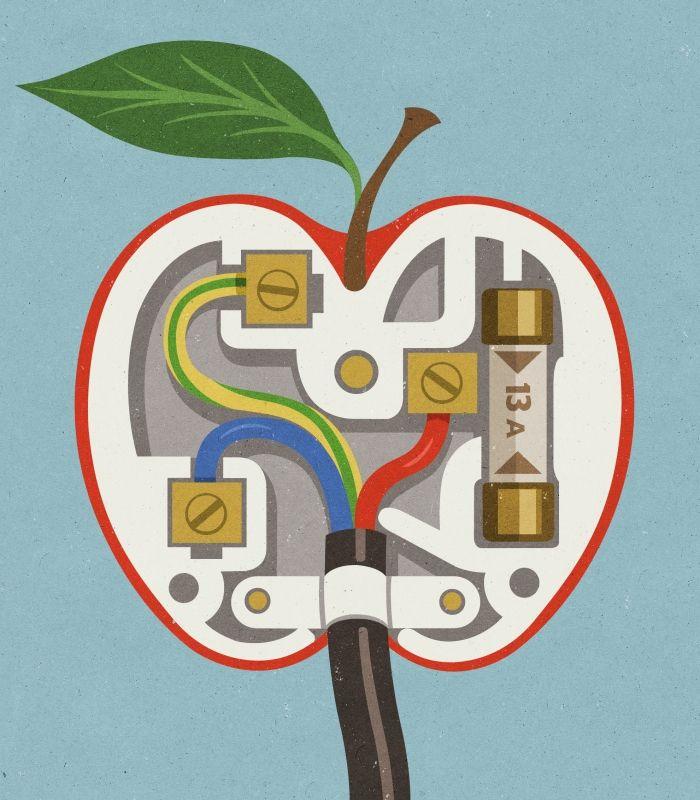 #JohnHolcroft #editorialillustration #illustration #apple #lindgrensmith