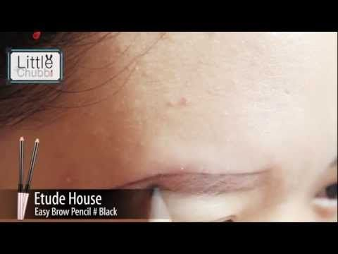 Review : Easy Brow Pencil - Etude House #3 black - YouTube