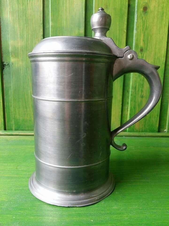 Пивная кружка, олово, Швеция, 1 литр, середина прошлого века, 5000 руб.