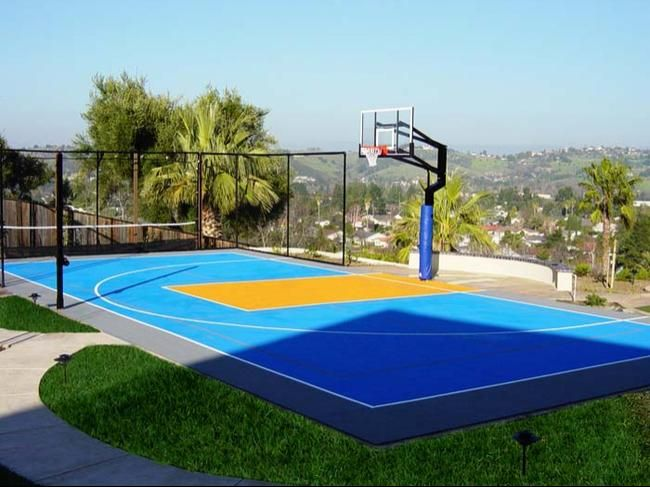 Multisport Game Court Outdoor Basketball Court Basketball Court Backyard Sport Court