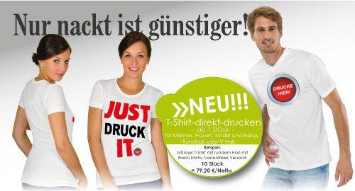 T-Shirts inkl. Druck - günstig und schnell Drucken