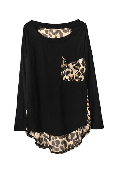 Leopard Print Detail Top