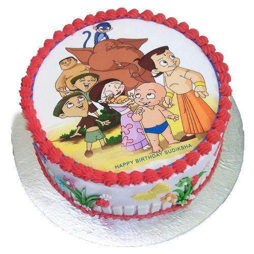 Chota Bheem Photo Cake for your lovable and naughty kid. Call 9718108300 and book your order now. #cartoonCake #cakeForKids #Photocake #ChotaBheemPhotoCake