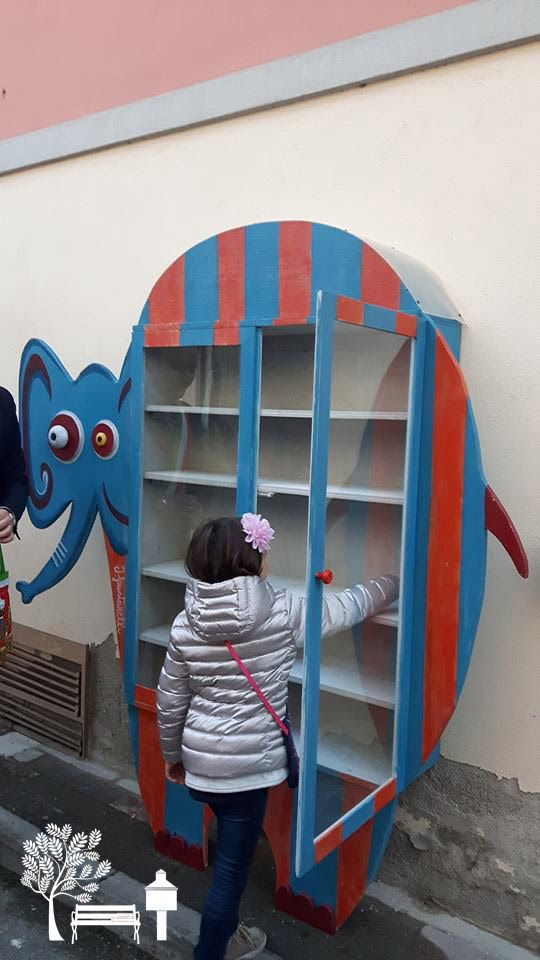 "#LittleFreeLibrary 47550 in Borgo San Lorenzo, Italy, is a giant elephant! ""The Library artists were Claudia De Fausti and Luca Mommarelli. The Library is called ""AnimaLibri,"" which is a play on words. The Italian word ""anima"" has two meanings: 1) It's a noun that means ""soul,"" as in the soul of the books and 2) It's a verb that means ""to animate,"" as in to bring the books alive."" - Steward Sandra Gualtieri"