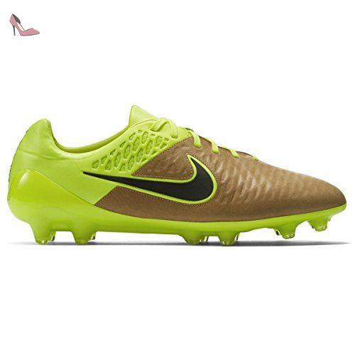 Nike  Magista Opus LTHR FG, chaussures de football homme - différents coloris - Doré / noir / vert (toile / noir - électrique), 42 1/2 EU - Chaussures nike (*Partner-Link)